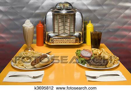 Clip Art Of Retro Diner K3695812 Search Clipart