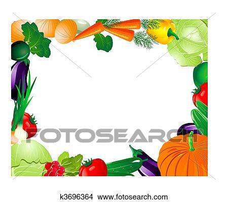 剪贴画 蔬菜, 框架