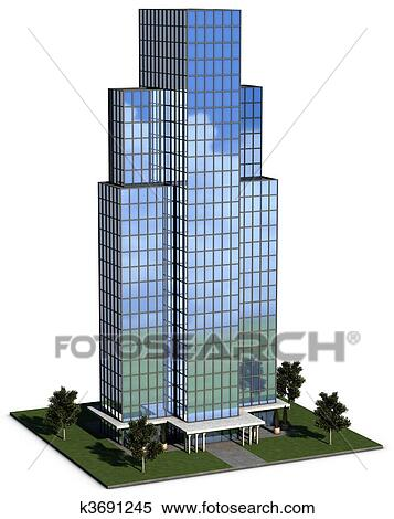 Stock Image Of Modern Hi Rise Corporate Office Building K3691245