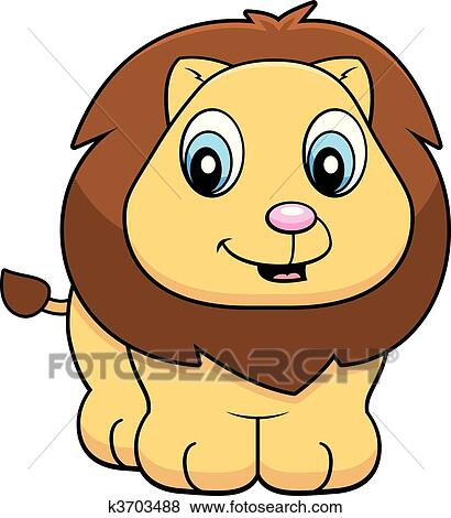 clip art of baby lion k3703488 search clipart illustration rh fotosearch com baby lion cartoon clipart baby lion king clipart