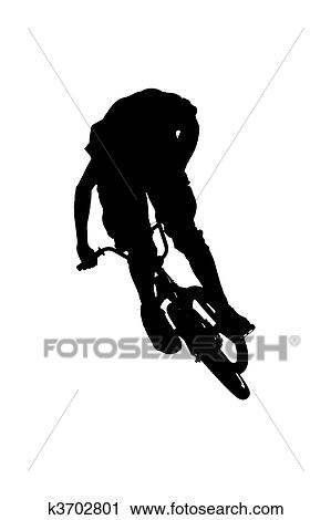 clipart mountain biker silhouette fotosearch search clip art illustration murals drawings