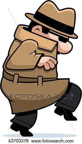 Clip Art Spy Clipart clip art of spy sneaking k3703376 search clipart illustration fotosearch posters drawings