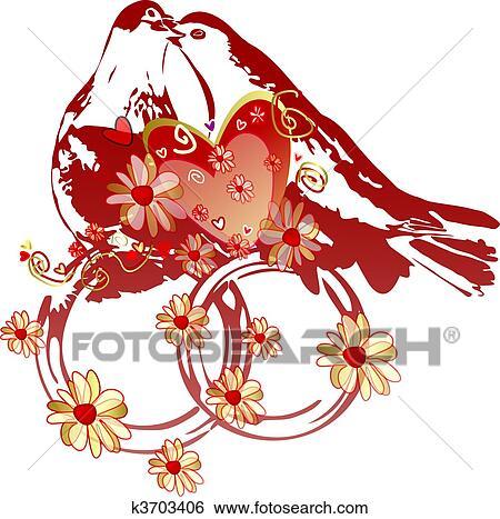 banque d 39 illustrations pigeons sur alliances k3703406. Black Bedroom Furniture Sets. Home Design Ideas