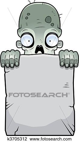 Clipart zombi pierre tombale k3705312 recherchez des clip arts des illustrations des - Pierre tombale dessin ...