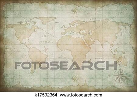 Drawings of old world map background k17592364 search clip art drawing old world map background fotosearch search clip art illustrations wall posters gumiabroncs Image collections