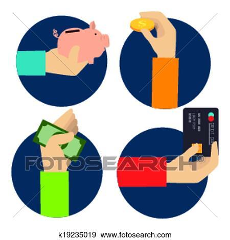 clip art of saving money design k19235019 search clipart rh fotosearch com Safe Clip Art Safe Clip Art