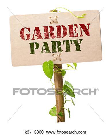 stock fotografie - gartenparty, einladung karte k3713360 - suche, Garten und Bauten