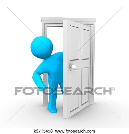 Banque d 39 illustrations porte ouverte k3715458 for Porte ouverte dessin