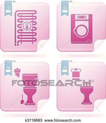 Clipart badezimmer ger te k3718683 suche clip art for Badezimmer clipart