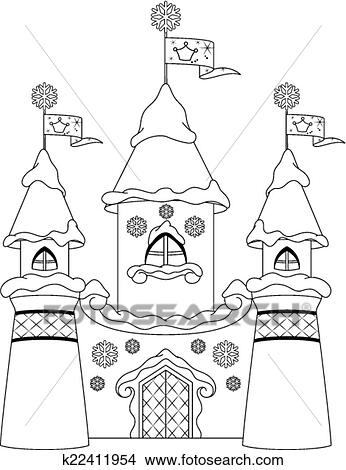 Clipart of Castle coloring page k22411954 - Search Clip Art ...