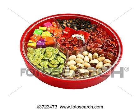 stock photo chinese new year candy box fotosearch search stock images - Chinese New Year Candy