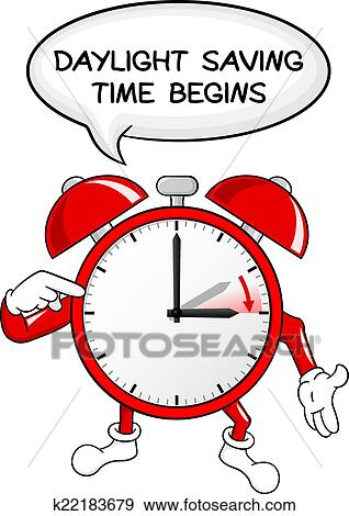 Clip art of alarm clock change to daylight saving time for When was daylight savings time started