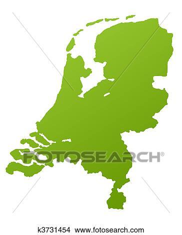 手绘图 - 荷兰, 地图