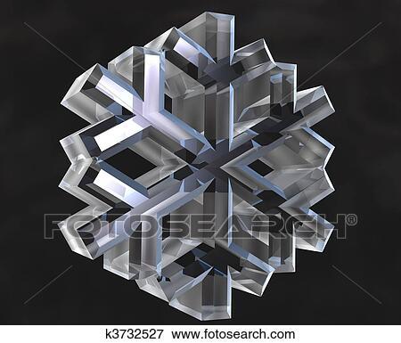banque d 39 illustrations flocon neige symboles 3d k3732527 recherche de cliparts au format. Black Bedroom Furniture Sets. Home Design Ideas