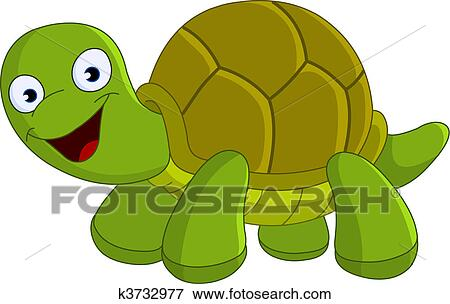 Clip art of happy turtle k3732977 search clipart illustration posters drawings and eps - Clipart tortue ...