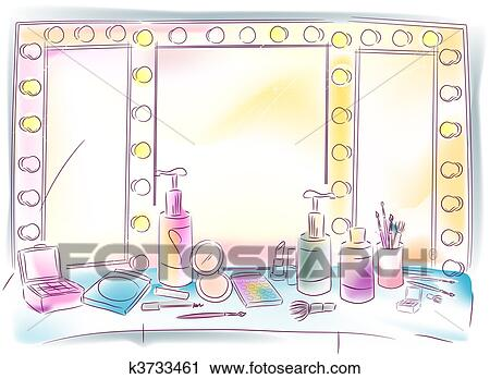 vanity mirror clipart. clipart - vanity mirror. fotosearch search clip art, illustration murals, drawings and mirror d