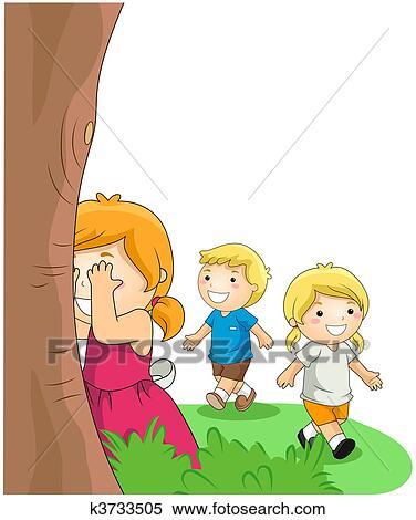 Stock Illustration - versteckspiel k3733505 - Suche ...
