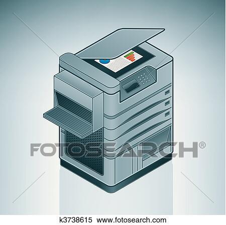 clipart gro b ro laserdrucker k3738615 suche clip. Black Bedroom Furniture Sets. Home Design Ideas