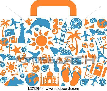 clipart voyage valise k3739614 recherchez des clip
