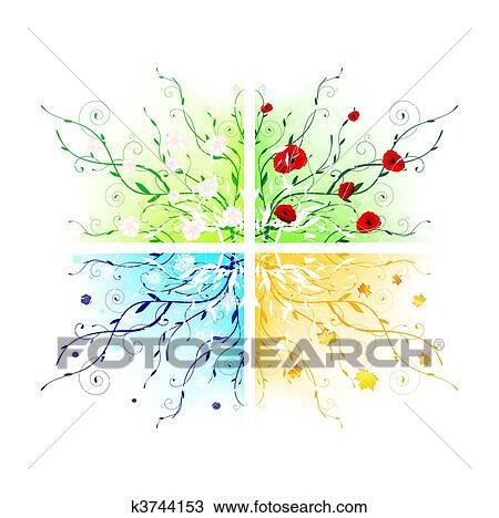 clipart jahreszeiten k3744153 suche clip art illustration wandbilder zeichnungen und. Black Bedroom Furniture Sets. Home Design Ideas