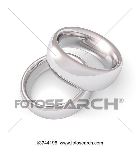 Stock Illustration of Platinum Wedding Rings k3744196 Search Clip