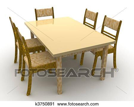 Stühle clipart  Clipart - stühle, und, a, tisch k3750891 - Suche Clip Art ...