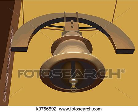 clip art of temple bell k3756592 search clipart