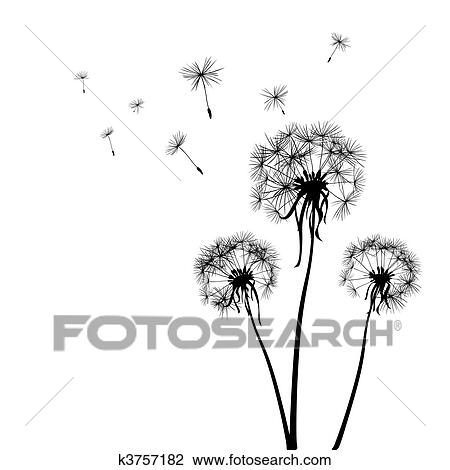 Clip Art Dandelion Clip Art stock illustration of dandelions k1185008 search eps clip art dandelions