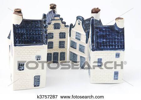 Image hollandais historique c ramique maisons dans delft porcelaine k - Achat immobilier amsterdam ...
