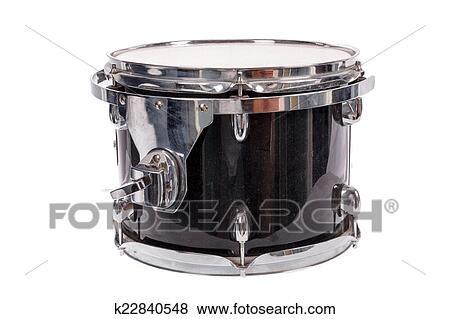 Stock Illustration of black music bass drum on white ...