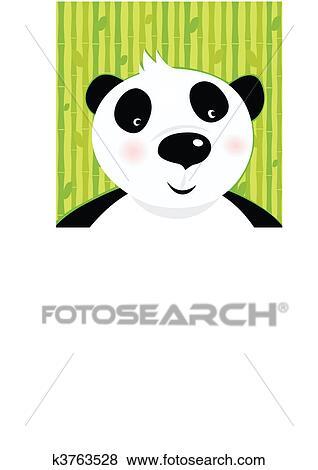 熊猫头像白色背景图