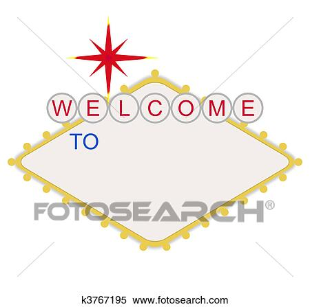 Clip art of las vegas sign k4511012 search clipart illustration blank welcome to las vegas sign pronofoot35fo Choice Image