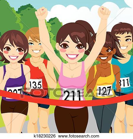 运动, 运动员, 适合, 马拉松, 插画,图画,剪贴画,图像,图片,绘图,美术图片