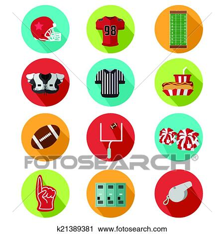 American Football Icons Stock Vector 133264658  Shutterstock