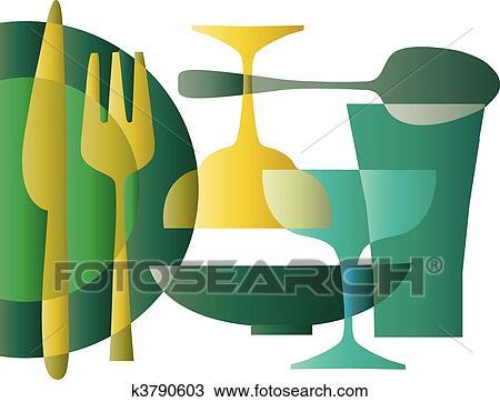 clipart kueche mustertapete 1 k3790603 suche clip art illustration wandbilder. Black Bedroom Furniture Sets. Home Design Ideas