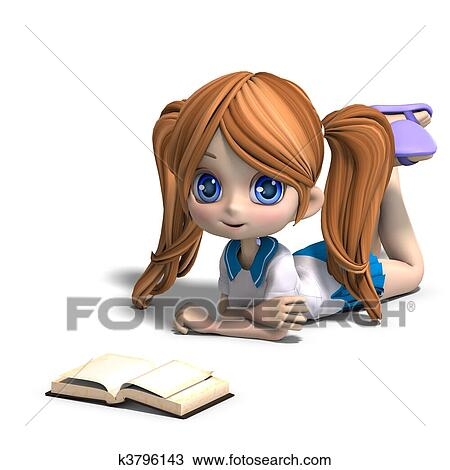 Books Cartoon Drawing Drawing Cute Little Cartoon