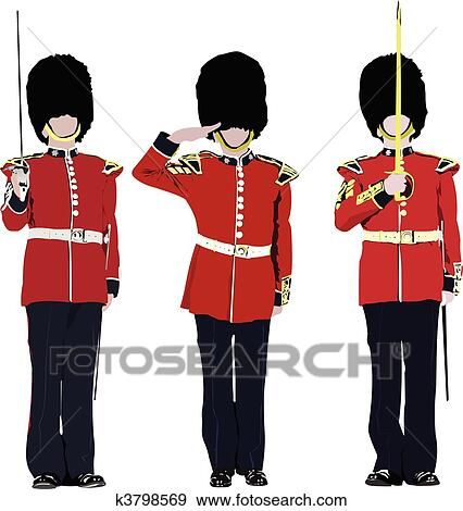 Vector Image Of Five Beefeaters E