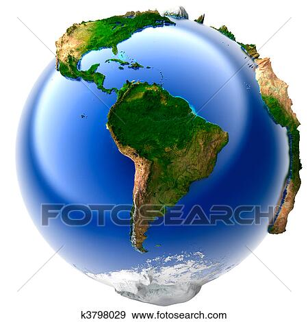Stock illustration of miniature real earth k3798029 search vector 3d model of the globe with an exaggerated vertical relief gumiabroncs Gallery