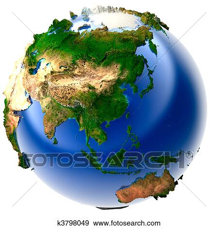 Stock illustration of miniature real earth k3798049 search vector 3d model of the globe with an exaggerated vertical relief gumiabroncs Gallery