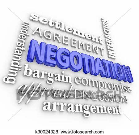 Pictures of negotiation compromise settlement agreement word collage picture negotiation compromise settlement agreement word collage truce deal fotosearch search stock photos platinumwayz