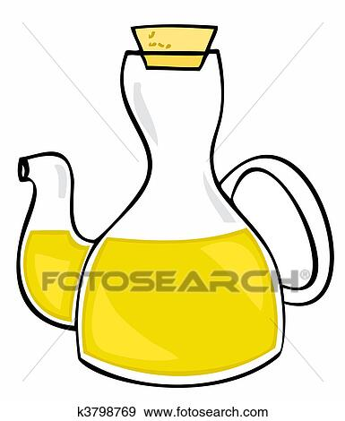 clip art of olive oil glass bottle with cork k3798769 search rh fotosearch com essential oil bottle clipart Pure Guard Oil Bottles