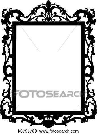 clip art of vintage frame vector k3795789 search clipart rh fotosearch com vintage frame clipart free vintage frame clip art free