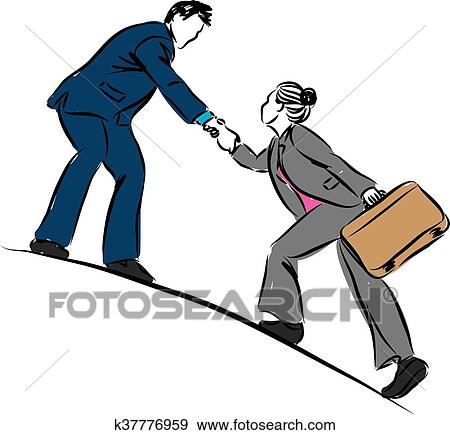 clip art of businessman helping to climb busine k37776959 search rh fotosearch com businessman clipart png businessman clipart black and white