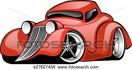clip art of classic american hot rod coupe k27627458 search rh fotosearch com  muscle car clip art for shirts