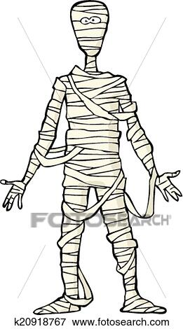 Clip Art of Ancient Egyptian mummy k20918767 - Search ...