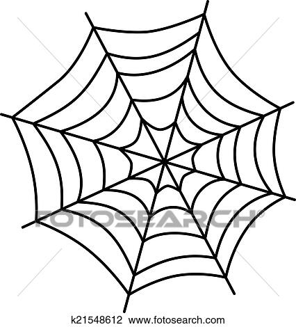 clipart of spider web art k21548612 search clip art illustration rh fotosearch com clipart picture of spider web clipart picture of spider web