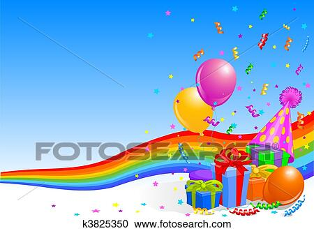 Clipart of Birthday party background k3825350 Search Clip Art
