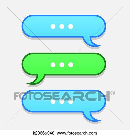 clip art of text message bubbles back and forth k23665348