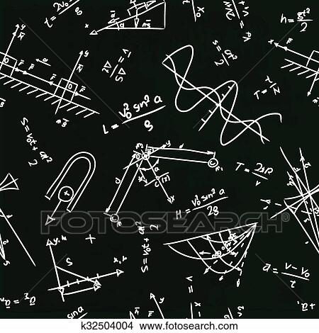 seamless, 模式, 带, 物理学, 公式, 在上, 学校, 板图片