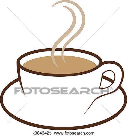 Clipart - tasse café, vecteur k3843425 - Recherchez des ...